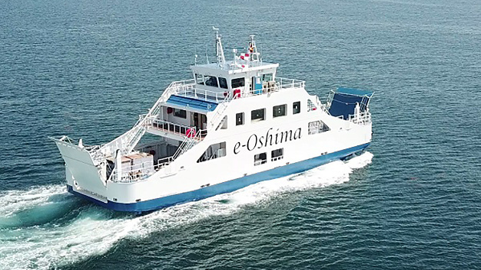 Das emissionsfreie Passagierschiff e-Oshima fährt mit Lithium-Ionen-Batterien von GS Yuasa.