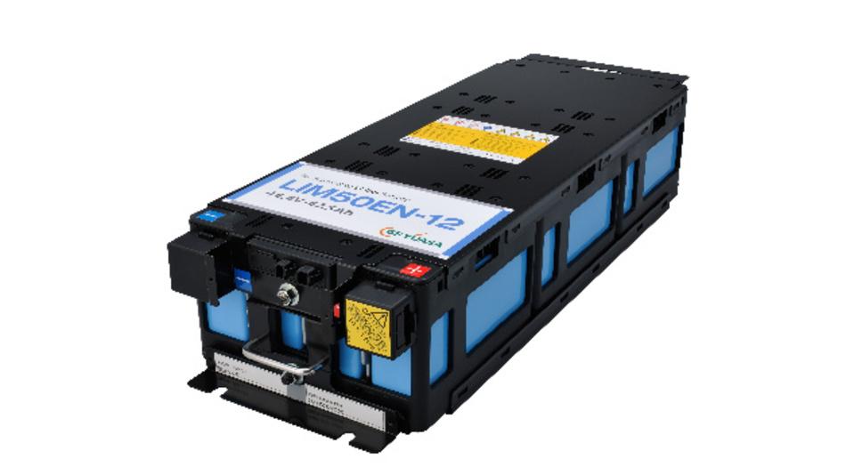 Zum Einsatz kommen hier die Lithium-Ionen-Hochleistungsbatterie-Module LIM50EN-12.