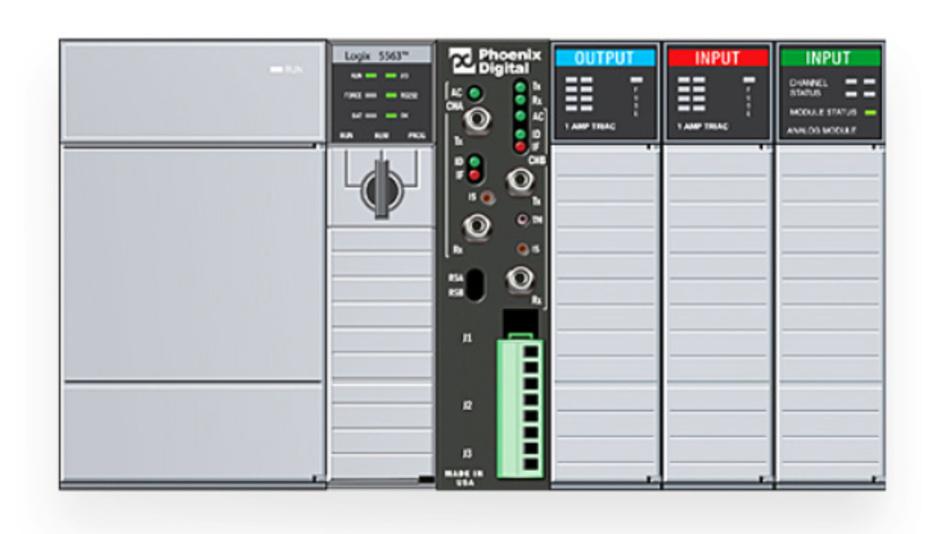 Für die Steuerungen der Serie 1746 SLC-500 von Rockwell Automation eignen sich die Glasfaser-Medienkonverter der Baureihe OPC von Phoenix Digital.