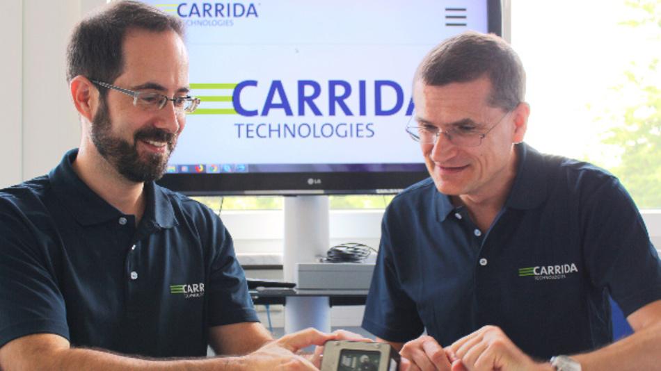 Carrida Technologies entwickelt Bildverarbeitungstechnik für die automatische Nummernschilderkennung und Fahrzeugtypisierung. Im Bild die Geschäftsführer Jan-Erik Schmitt (links) und Oliver Sidla.
