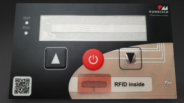 Mit gedruckter Elektronik lässt sich RFID direkt in Tastaturen integrieren, was den Kunden bei der Produktion ihrer Geräte zusätzliche Schritte spart.