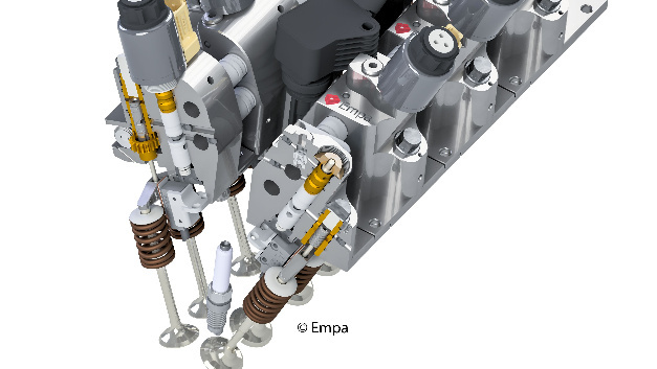 Schnittzeichnung des FlexWork-Ventiltriebs.