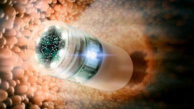 Endoskopie-Kapsel zur Dünndarm-Diagnose - entwickelt in dem Projekt Endotrace