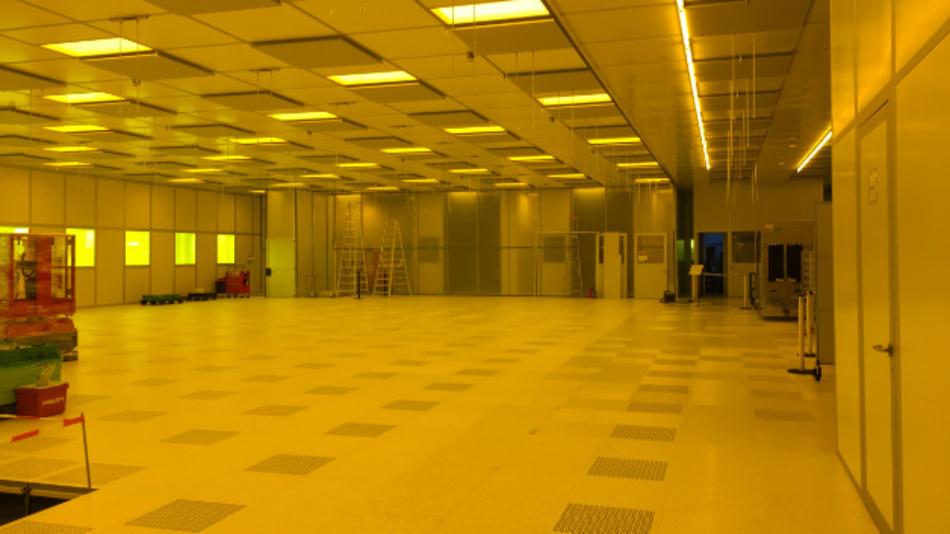 Der erweiterte Reinraum des AMTC wartet noch auf das Equipment.