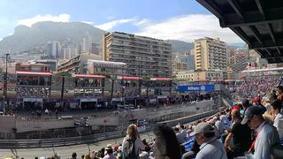 Blick auf die Rennstrecke in Monaco