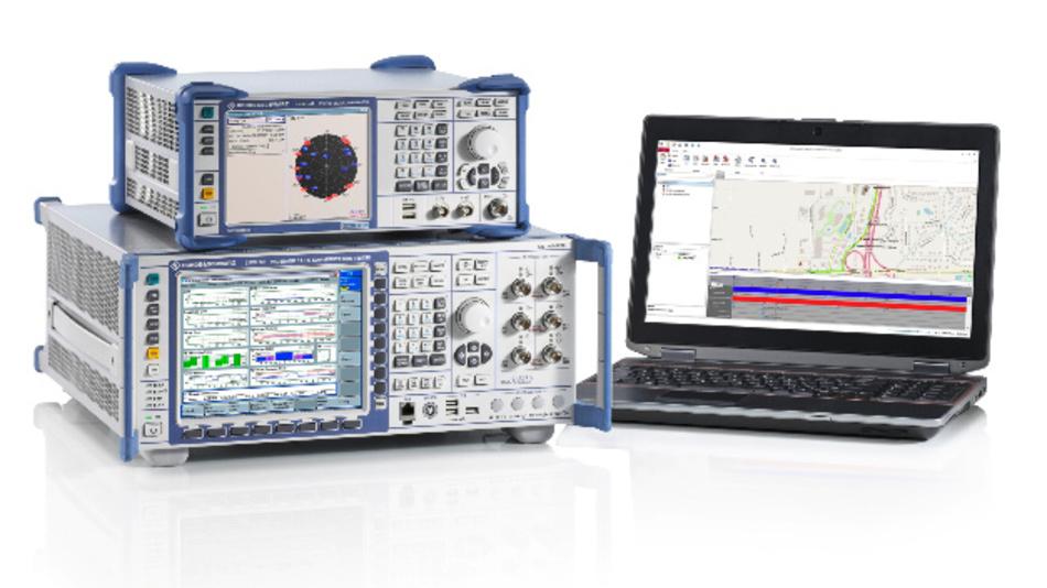 C-V2X-Testsystem für Verkehrstelematik.