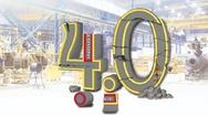 Zerstörtes Industrie-4.0-Logo