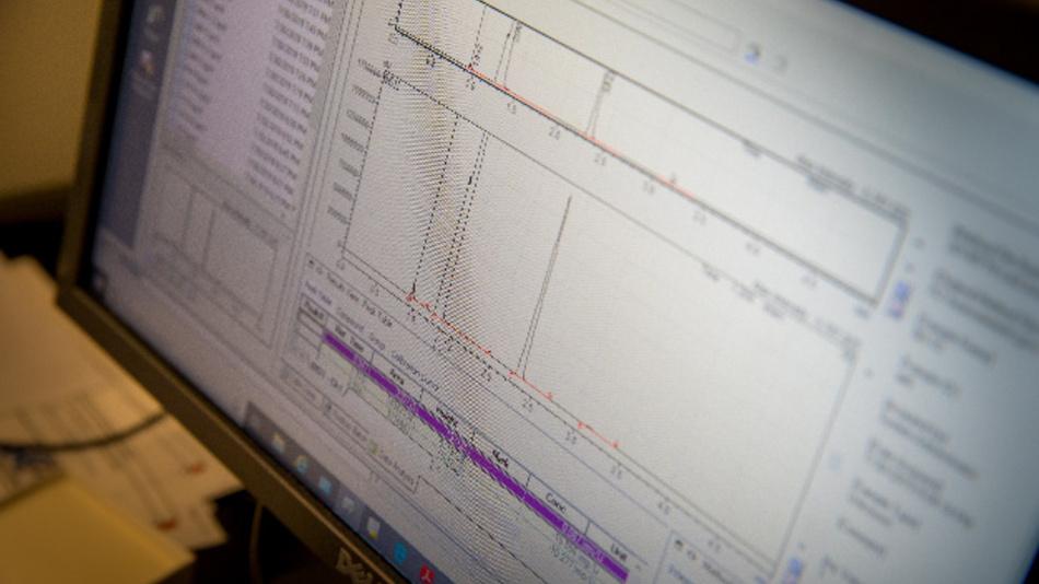 Für die Messung von Wasserstoffgas, das durch inaktives Lithium entsteht, wird die Gaschromatografie eingesetzt.