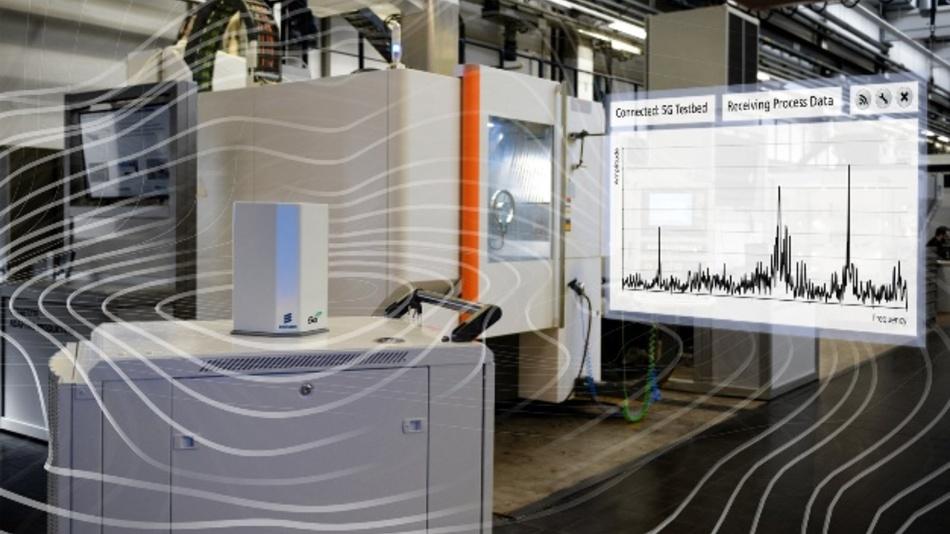 Das Fraunhofer IPT vernetzt mit internationalen Partnern die industrielle Fertigung kabellos mit 5G, um das Potenzial für die industrielle Fertigung zu erproben.