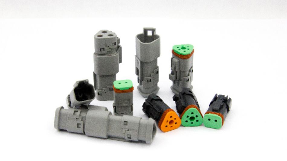 Die 2- und 3-poligen Steckverbinder mit Schnappverschluss erhöhen die Zuverlässigkeit.