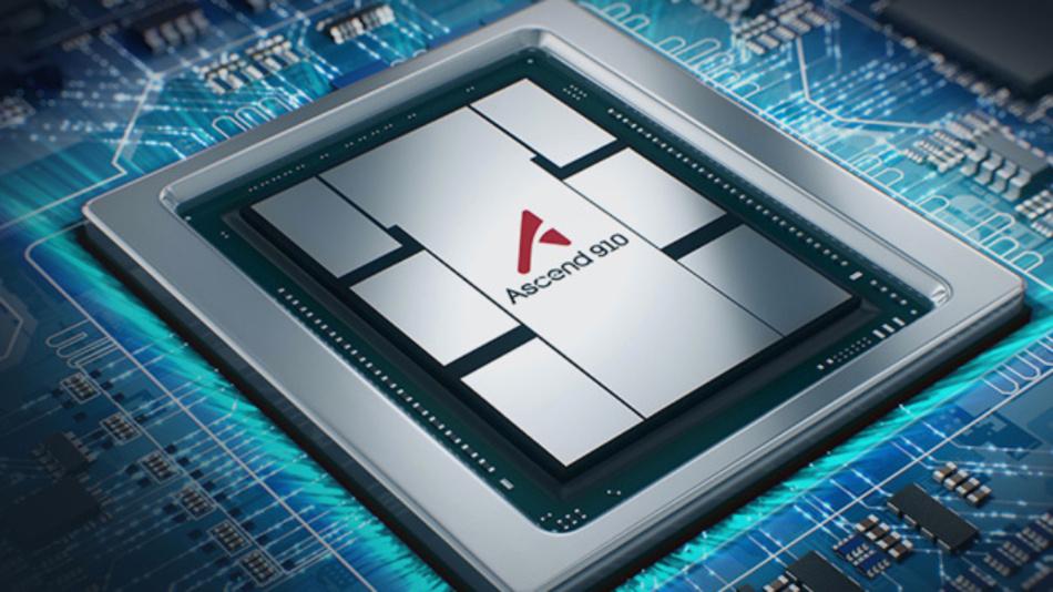 Huaweis Flaggschiff-KI-Prozessor Ascend 910 für das Training von Machine-Learning-Aufgaben.