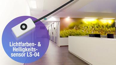 Der Lichtfarben- und Helligkeitssensor LS-04 bietet eine Vielzahl an opto-messtechnischen Erfassungs- und Auswertefunktionen.