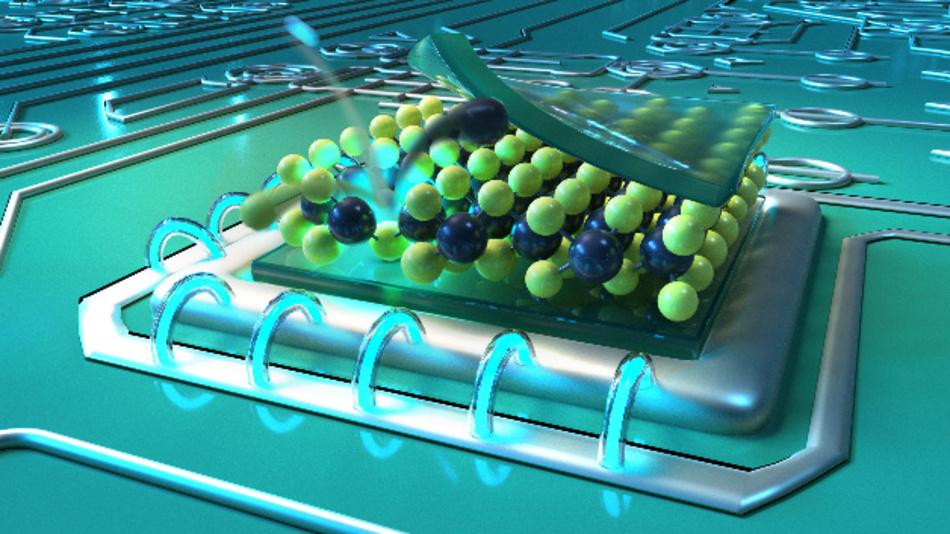 Fehlstellen in dünnen Molybdänsulfid-Schichten, erzeugt durch Beschuss mit Helium-Ionen, können als Nano-Lichtquellen für die Quantentechnologie dienen.