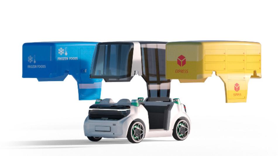 Der Schaeffler Mover ist flexibel ausgelegt, so dass verschiedene Fahrzeugaufbauten für unterschiedliche Einsatzzwecke realisiert werden können.