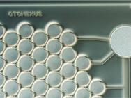 Der  CMUT-Chip nutzt Ultraschall für das Otoskop.
