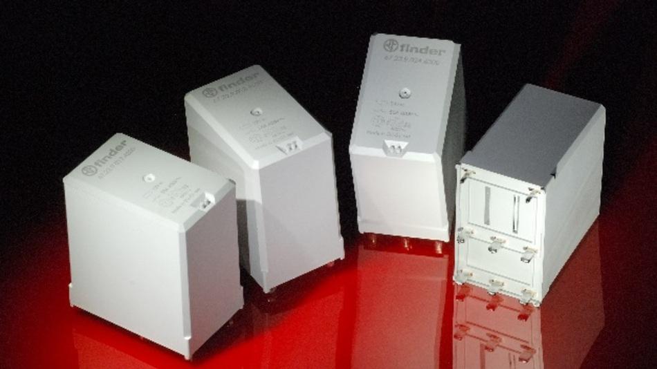 Derzeit eine der wichtigsten Relais-Baureihen von Finder: Die Relais der Serie 67, für eine Schaltlast bis 100 A, produziert die Firma in hohen Stückzahlen.