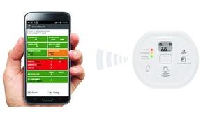 Mit der Audiolink-Technologie kann das »Gedächtnis« des Kohlenmonoxidwarnmelders Ei208iDW bequem über das Smartphone ausgelesen werden.