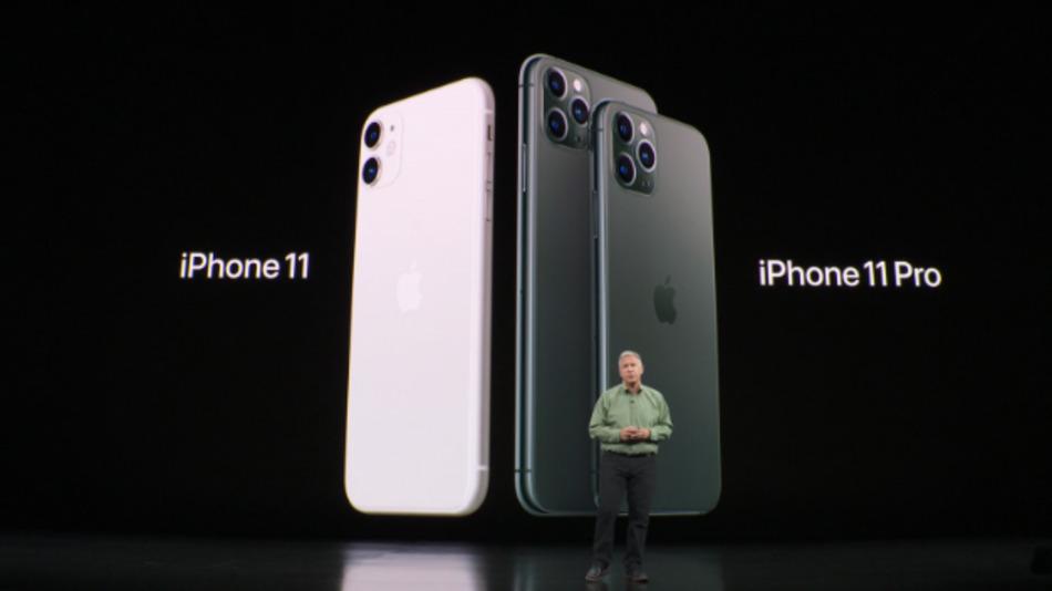 Apples VP Phil Schiller präsentierte die neuen iPhones 11 mit dem Apple-A13-SoC inside.