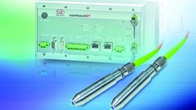 Der konfokale Sensor bietet eine Auflösung von 3 nm, einen großen Verkippungswinkel sowie einen 3 µm kleinen Lichtpunkt  Bild: MicroEpsilon