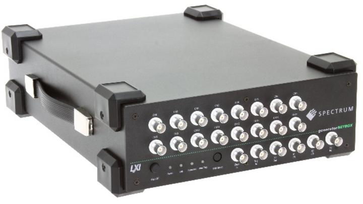 Dank Ethernet/LXI ideal für automatisierte oder ferngesteuerte Anwendungen: die tragbaren AWGs der Serie generatorNetbox DN2.65x von Spectrum Instrumentation.