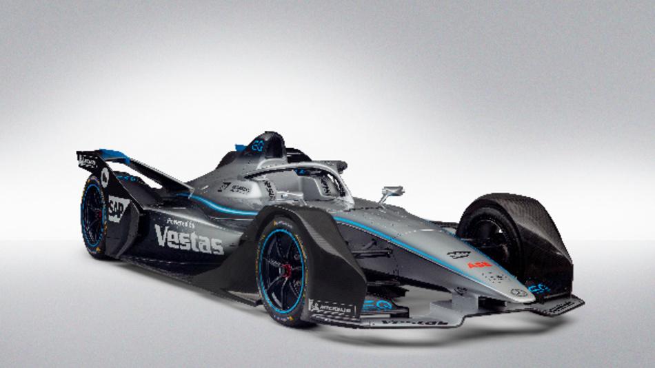 E-Rennwagen von Mercedes-Benz für die ABB FIA Formel E.