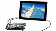 Display-Kit mit IB818 von iBASE für den direkten Industrie-Einsatz.