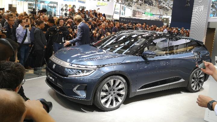 Elektrofahrzeuge wie dieser Byton M-Byte beherrschten das Bild der IAA 2019.