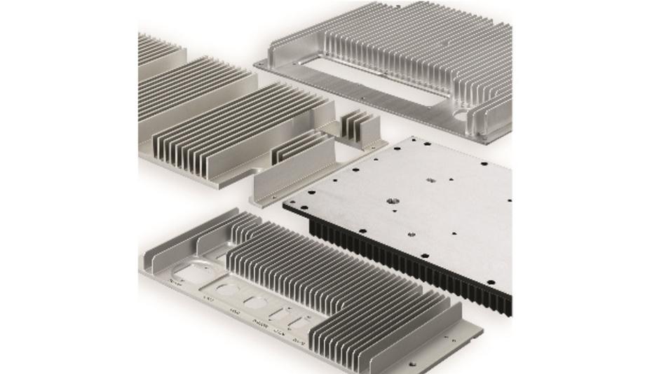 Bild 1: Effiziente an die Applikation angepasste Strangkühlkörper liefern optimale Entwärmungsmöglichkeiten bei der freien Konvektion.