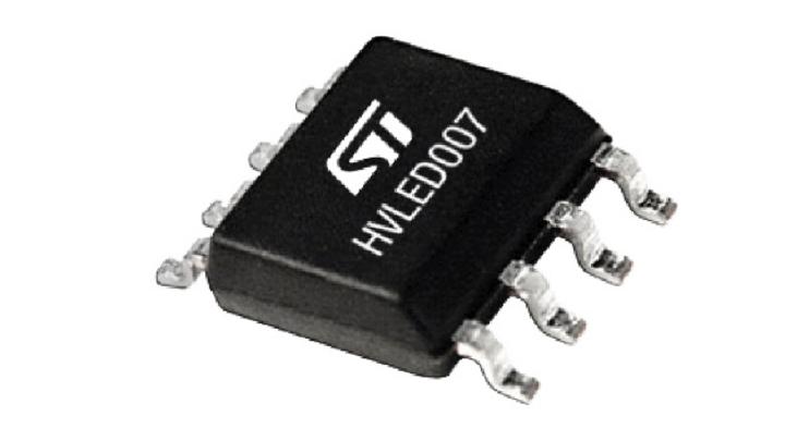 HVLED007 LED-Treiber-IC bis 80 Watt mit Verzerrungskompensation.