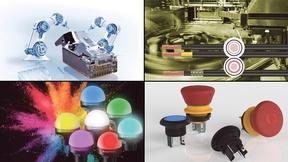 Bildcollage zu Produkten aus dem Bereich Elektromechanik im September 2019