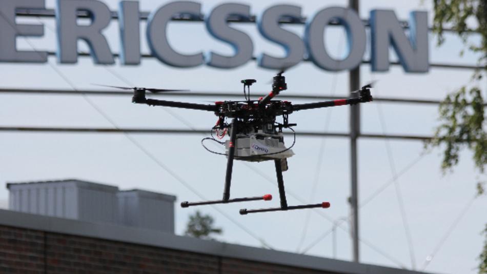 Drohnenbasiertes Testsystem für LTE- und 5G-Netzabdeckung und Netzqualität.