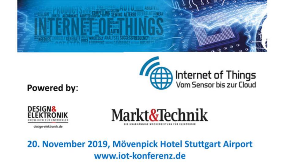 Die Fachmedien DESIGN&ELEKTRONIK und Markt&Technik veranstalten am 20. November 2019 zum fünften Mal die Konferenz »Internet of Things – vom Sensor bis zur Cloud«.