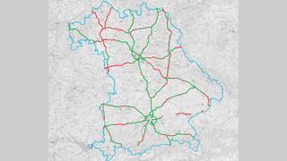 Netzabdeckung Autobahnen Bayern Telefónica