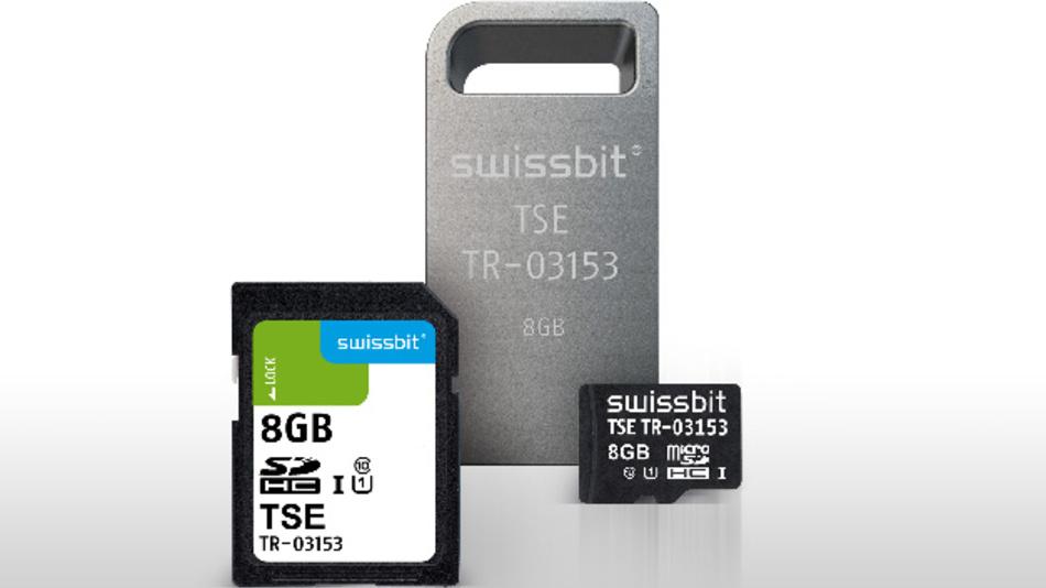 Technische Sicherheitseinrichtungen (TSE) zur manipulationssicheren Aufzeichnung von Kassendaten. Der Anschluss erfolgt über die USB-, SD- oder microSD-Schnittstelle. Die TSE ist für  Einzelgeräte und über LAN vernetzte Geräte erhältlich.