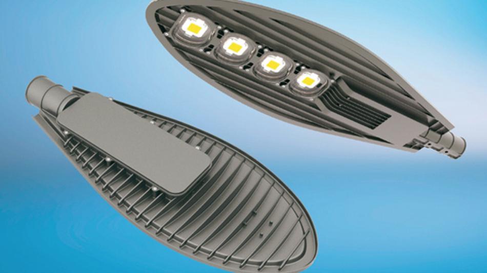 Bei Hochleistungs-LED-Leuchten übernimmt der Lampenkörper die Funktion des Kühlkörpers.