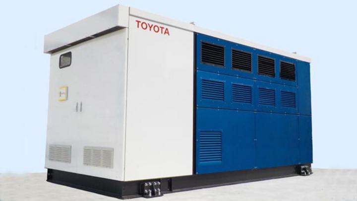 Toyota entwickelt einen Brennstoffzellengenerator mit der Technik des Mirai.