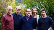 Gründer-Team (v.l.n.r.): Alexander Henhammer, Stefan Fischer, Sebastian Pammer, Dr.-Ing. Miriam Haerst und Stefan Leonhardt