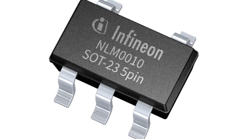 NFC-IC NLM0010 im 5-Pin-Gehäuse von Infineon für LED-Treiberschaltungen.