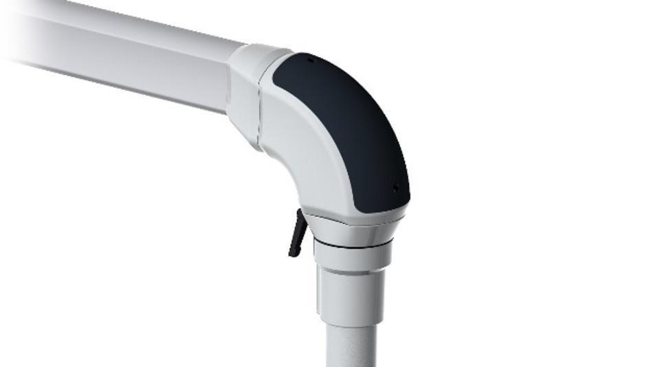Nutzer von Simatic HMI Pro sowie anderen Panels profitieren von der enormen Beweglichkeit des Tragarmsystems dank eines um 300 Grad drehbaren Gelenks.