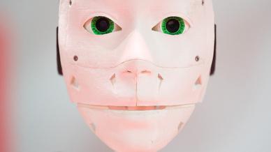 Robotergesicht aus dem 3D-Drucker: Laut einer Studie könnte der 3D-Markt in den nächsten Jahren auf 25 Mrd. Euro anwachsen.