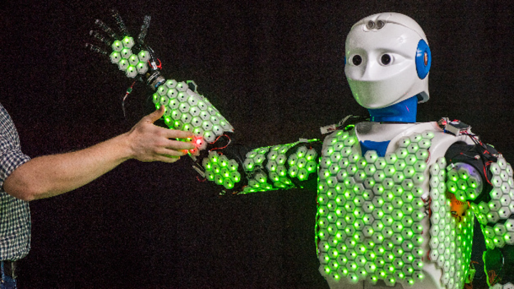 Roboter H1, TU München, künstliche Haut