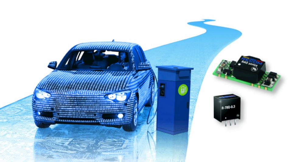 Leistungselektronik im Automobilbereich.