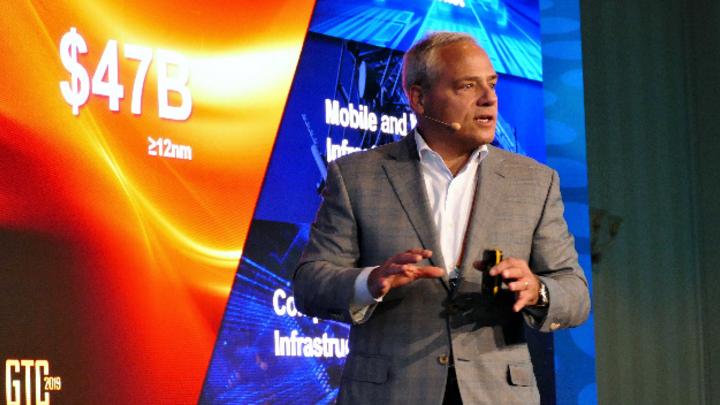 »Wir positionieren uns dort, wo wir einen technischen Vorsprung haben«, Globalfoundries CEO Tom Caulfield auf der GTC 2019.