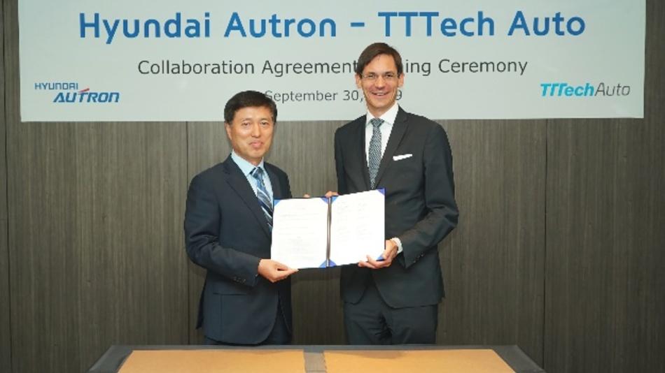 Hyundai Autron und TTTech Auto arbeiten künftig eng zusammen.