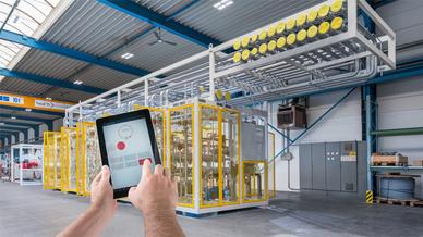 Über das Lichtmanagementsystem LiveLink werden sämtliche Betriebsparameter des Beleuchtungsnetzwerks in Echtzeit überwacht und analysiert.