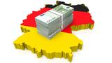 Deutschland Karte Fahne Geldbündel