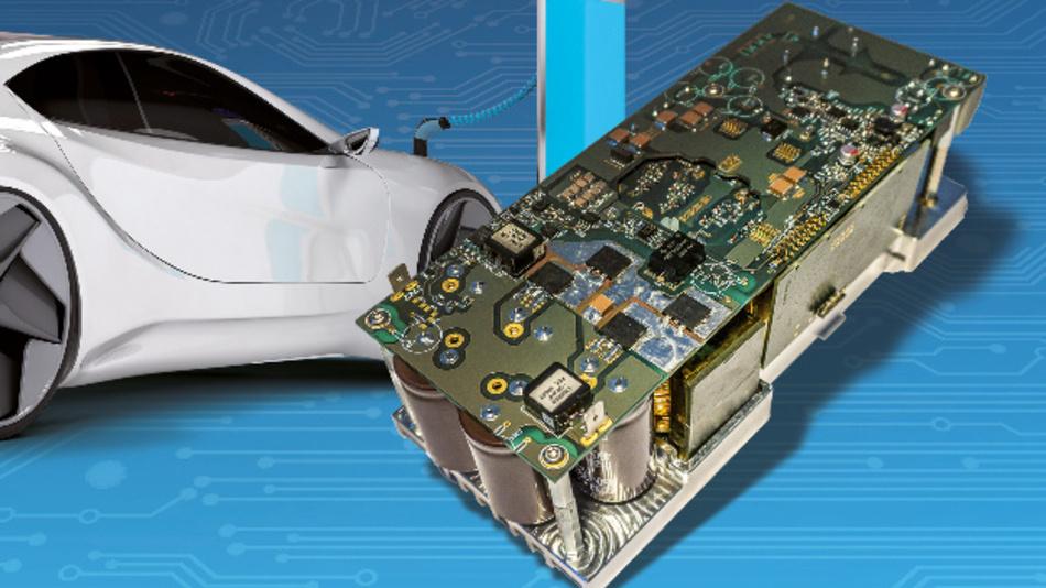 Gerade einmal 210 mm × 50 mm × 60 mm misst der 3-kW-On-Board-Charger von Finepower, der GaN-Transistoren nutzt.