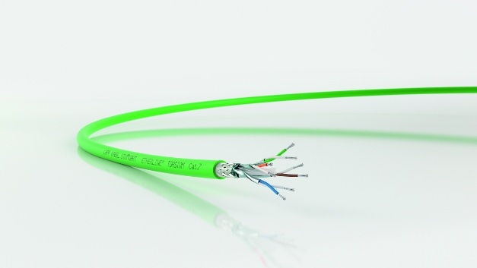 Bild 2. Die Etherline Torsion Cat. 7 ist eine Hochgeschwindigkeitsleitung für industrielles Ethernet. Das Predictive-Maintenance-System verwendet einen Deep-Learning-Ansatz.
