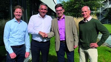 Andreas Laible, Dr. Achim Agostini, Matthias Kellermann und Cornelius Gläser