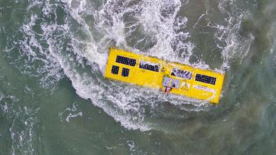 Die Anlage von Nemos im Betrieb in der belgischen Nordsee.